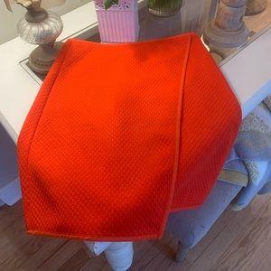 Orange Boden wrap around skirt! Size 4 🖤